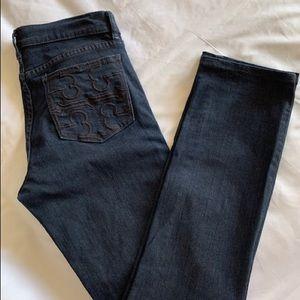 Tory Burch Super Skinny Jean Size28 Dark Blue wash